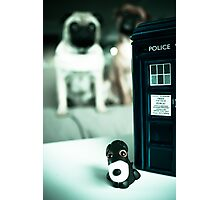 Polymer Pommie & The Tardis Photographic Print