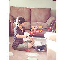 Violin Practice Photographic Print