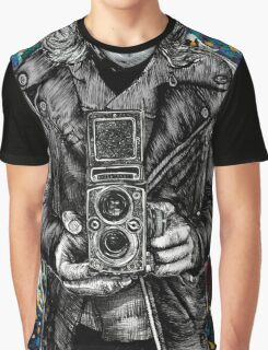 Leather Twin Lens Graphic T-Shirt