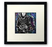 Leather Twin Lens Framed Print