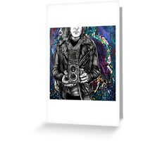 Leather Twin Lens Greeting Card