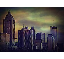 the colors of the darkening sky Photographic Print