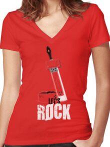 Let's Rock Badguy! Women's Fitted V-Neck T-Shirt