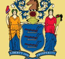 New Jersey USA Jerseyan State Flag Newark Duvet T-Shirt Sticker Sticker