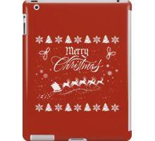 Merry Christmas Santa Sleigh  iPad Case/Skin