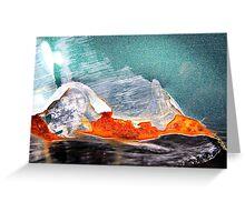 Iceberg reflecting Sunset Greeting Card