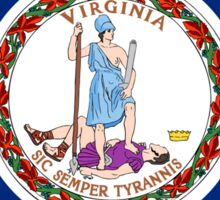 Virginia USA State Richmond Flag Bedspread T-Shirt Sticker Sticker