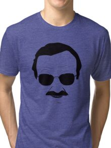 Stan Lee in Black Tri-blend T-Shirt