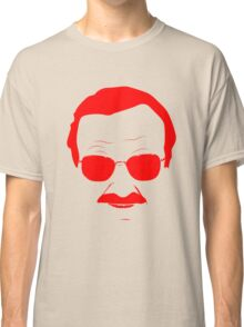 Stan Lee in Red Classic T-Shirt