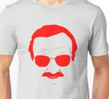 Stan Lee in Red Unisex T-Shirt