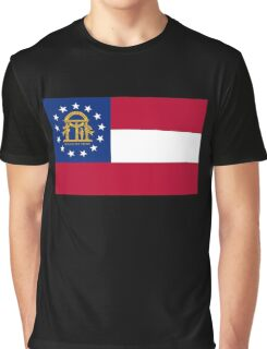 Georgia USA State Atlanta Flag Bedspread T-Shirt Sticker Graphic T-Shirt