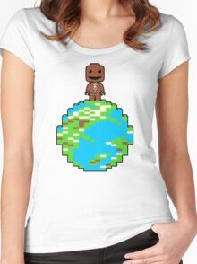 LITTLE BLOCK PLANET Women's Fitted Scoop T-Shirt