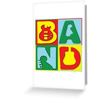 Band Blocks Greeting Card