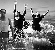 Nuns chasing Buster Keaton by mariposa5197