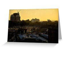 Sunset Over Central Station, Sydney Greeting Card