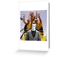Buster with rollercoaster monks Greeting Card
