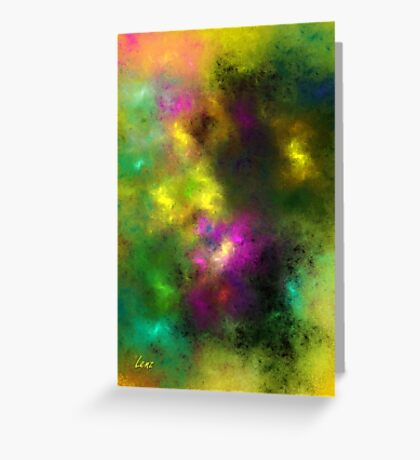 Multi-Colored Abstract Greeting Card