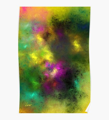 Multi-Colored Abstract Poster