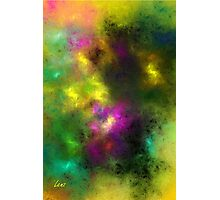 Multi-Colored Abstract Photographic Print