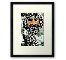 The newest member of the ostrich family, the Scottstrich (self portrait) Framed Print