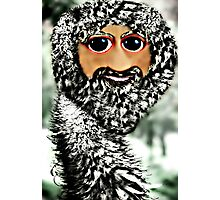 The newest member of the ostrich family, the Scottstrich (self portrait) Photographic Print