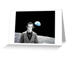 Buster on the moon Greeting Card