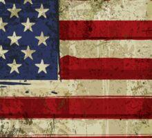 Grunge Flag Of US  Sticker