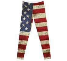 Grunge Flag Of US  Leggings