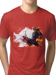 The Captain's Flying Knee Tri-blend T-Shirt