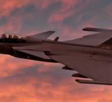 Swedish Air Force SAAB Gripen at Sunset Sticker