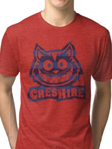 Cheshire Originals - Blueberry Stripe Scribble Tri-blend T-Shirt