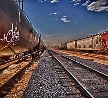 Tagged Train by Adam Northam
