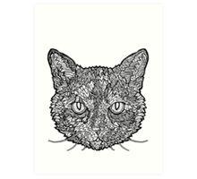 Tortoise Shell Cat- Complicated Cats Art Print