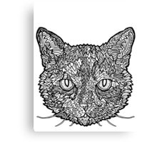 Tortoise Shell Cat- Complicated Cats Canvas Print