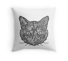 Tortoise Shell Cat- Complicated Cats Throw Pillow