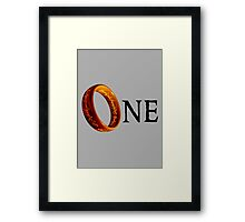 The One Ring Framed Print