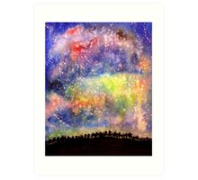 The Night Sky Art Print