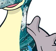 Lapras Water Art Sticker