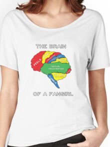 The Brain of a Fangirl Women's Relaxed Fit T-Shirt