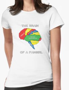 The Brain of a Fangirl Womens Fitted T-Shirt