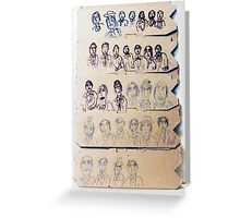 assemblage of characters Greeting Card