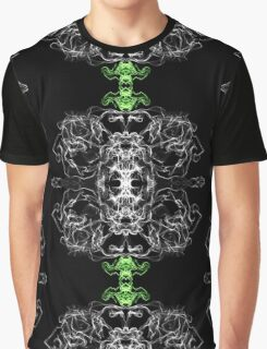 White green Geme on Black Graphic T-Shirt