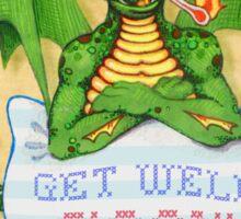 Get Well Dragon Sticker
