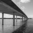 Bridge over water by Steve Randall