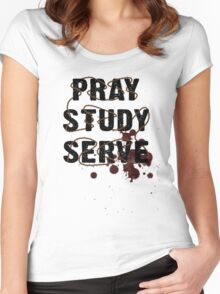 Pray Study Serve: Thorns Women's Fitted Scoop T-Shirt