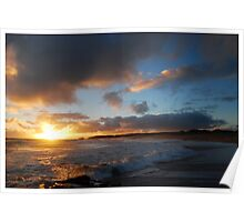 Beachport Sunset and Surf Poster