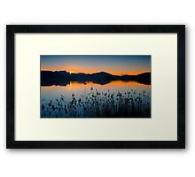 Dusk at Lake Wörthersee Framed Print