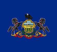 Pennsylvania USA State Flag Duvet Cover Philadelphia T-Shirt Sticker by deanworld