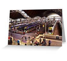 Neat Trains Greeting Card