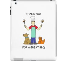 Thanks for a great BBQ iPad Case/Skin